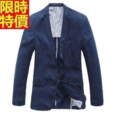 亞麻西裝 西裝外套-韓版修身透氣時尚薄款男西服4色68q2[獨家進口][米蘭精品]