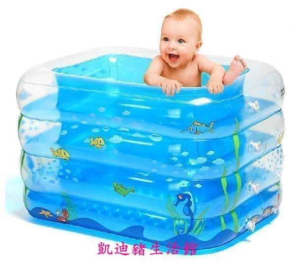 【凱迪豬生活館】超值 加高充氣嬰兒遊泳池 嬰幼兒童寶寶遊泳池戲水池超大 嬰兒室內室外用品KTZ-201044