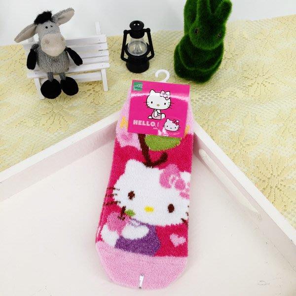 可愛三麗鷗kitty襪子冬天保暖羽絨直版襪款生日 聖誕節 女生衣著