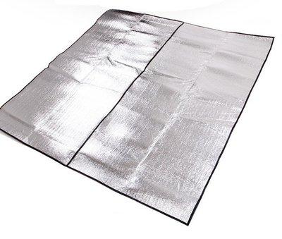 【露營趣 】TNR-135 300x300 帳篷用 雙面鋁箔墊 鋁箔墊 防潮墊 露營墊 野餐墊 地墊 睡墊