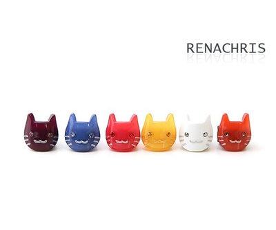 BHI871-法國品牌RenaChris 施華洛世奇晶鑽小貓髮夾 瀏海夾 小扣環【韓國製】
