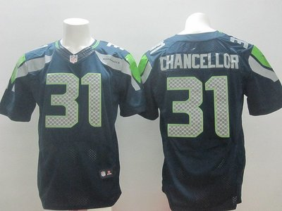 正品球衣~NFL橄欖球球衣 西雅圖海鷹 Seattle Seahawks31# CHANCELLOR 精英