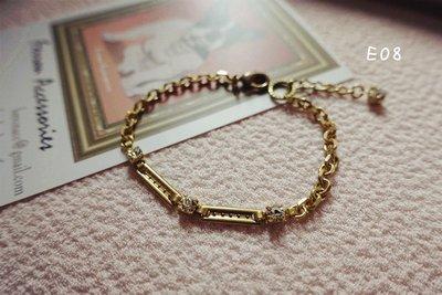 Ferron Accessories E08 繁星手鍊  訂製 Handmade 復古 歐美 黃銅
