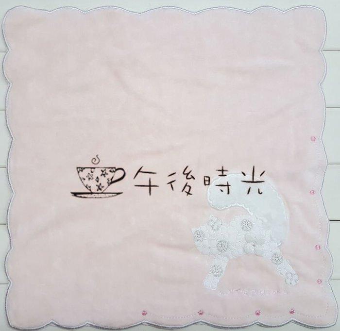 ~午後時光~ 專櫃品牌 奢侈品牌意大利米蘭ANTEPRIMA~立體貓咪 刺繡手帕 送客禮小