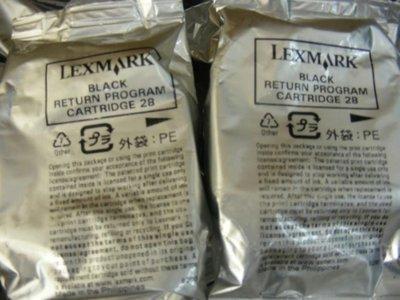 呈運☆庫存Lexmark 28裸裝原廠黑X2500/2530/2550/5490/Z845/1300/1310/1320