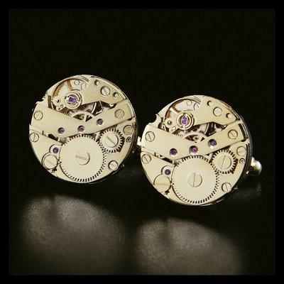 hello小店-C款鍍金版 法式袖扣 全新機械手表機芯表芯袖釘男士袖口釘#袖扣#裝飾品#飾品#