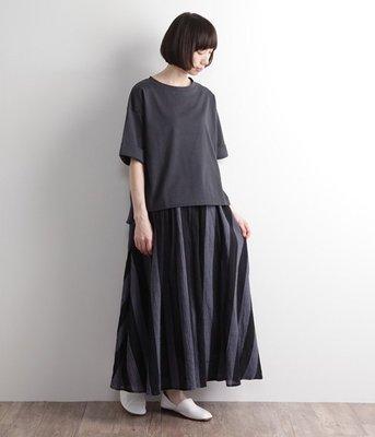 D*g*y 春夏新品 自然的皺褶紋理 輕盈飄逸 條紋長裙 (現貨款特價)