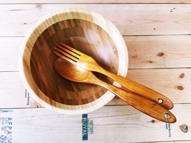 竹藝坊-BSB-02沙拉碗/缽,輕食餐碗,木盆,竹盆~歡迎大量採購