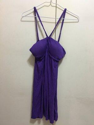❤夏莎shasa❤全新美國紫色性感罩杯洋裝/婚宴party/南洋風情/海邊海灘/1元起標