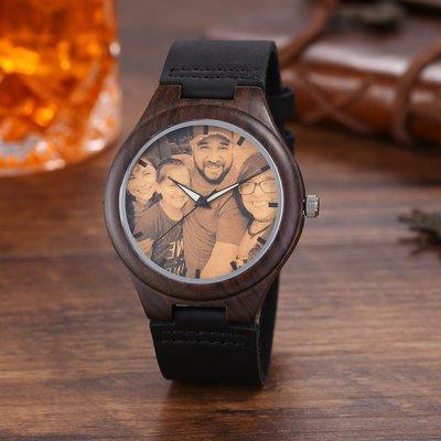暖暖本舖 一對一訂製紀念手錶 免費排版 客製化手錶 刻字手錶 可放照片的手錶 木製手錶 DIY手錶 雕刻手錶 生日禮物