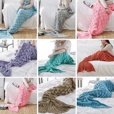美人魚毯子(1條)秋冬加厚保暖舒適仿羊絨毯子(8色任選)73pp155[獨家進口][米蘭精品]