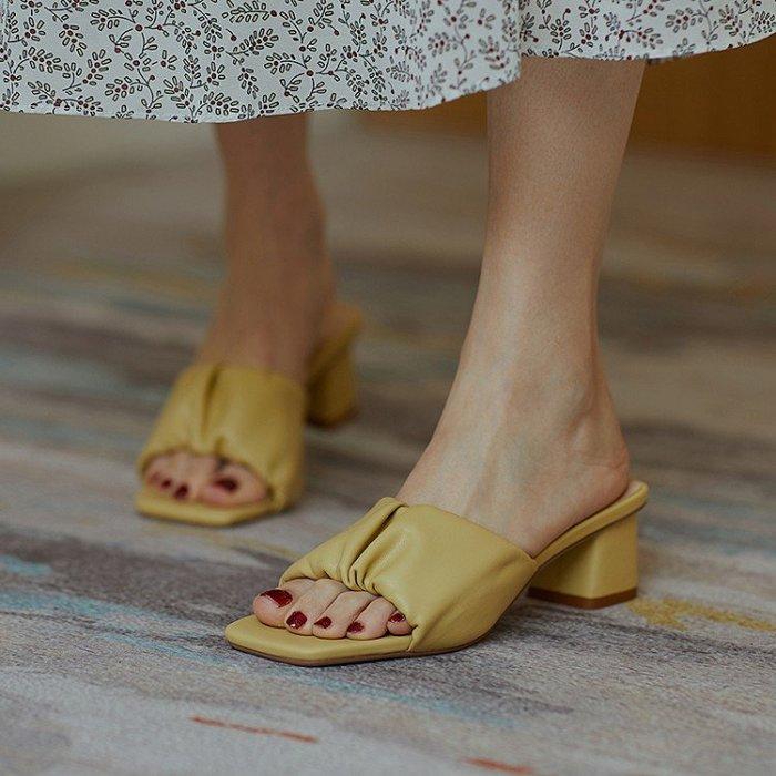『Alice❤愛麗絲』時裝涼鞋仙女風春季新款時尚女鞋潮露趾細跟百搭韓版高跟鞋潮