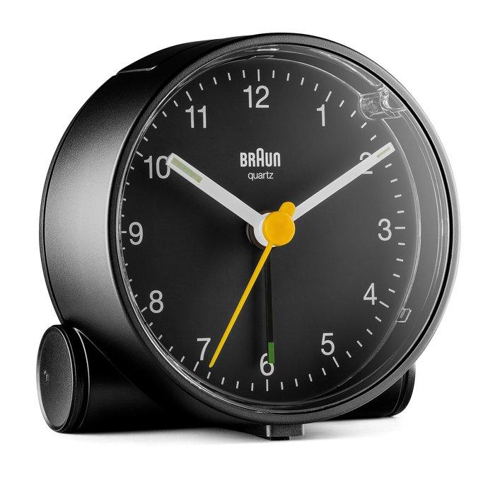 【Braun】德國百靈圓形鬧鐘現貨,兩年保固BC01黑色,含貪睡功能、燈光,夜光指針,靜音機芯