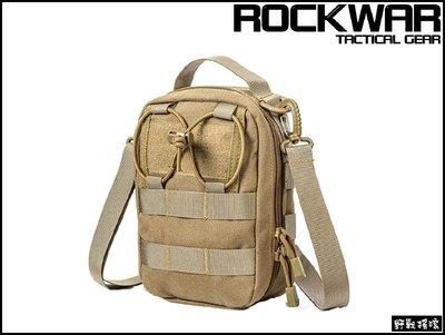 【野戰搖滾-生存遊戲】ROCKWAR 側背式戰術醫療包【狼棕色】側背包急救包雜物包單肩包勤務包腰包 新北市