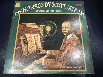 開心唱片 (SCOTT JOPLIN / PIANO RAGS) 二手 黑膠唱片 DD468
