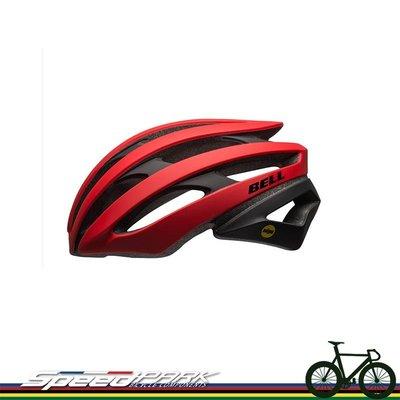 【速度公園】Bell 美國品牌 Stratus MIPS頂級自行車安全帽 公路車 登山車 單速車 安全帽 消光紅/黑-L