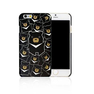 【買一送一】Kalo 卡樂創意 iPhone 6 動物系列 黑熊君出沒 彩繪 手機殼 背蓋 PC 超輕 質感 免運費