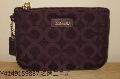 鳳山名牌二手屋.COACH~全新真品紫色手拿包