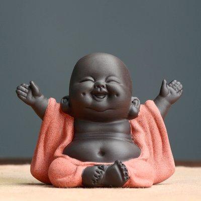 傳藝工坊 - 『笑看人生』彌勒佛 茶寵 大肚佛 Q版 可愛 彩砂陶 茶盤 茶壺 烏龍茶 普洱 紅茶 龍井 綠茶
