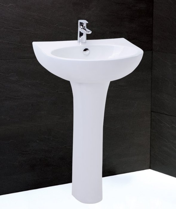 《101衛浴精品》凱撒 CAESAR 奈米抗污 長瓷腳 長腳柱 面盆 LP2152S【免運費 可貨到付款】