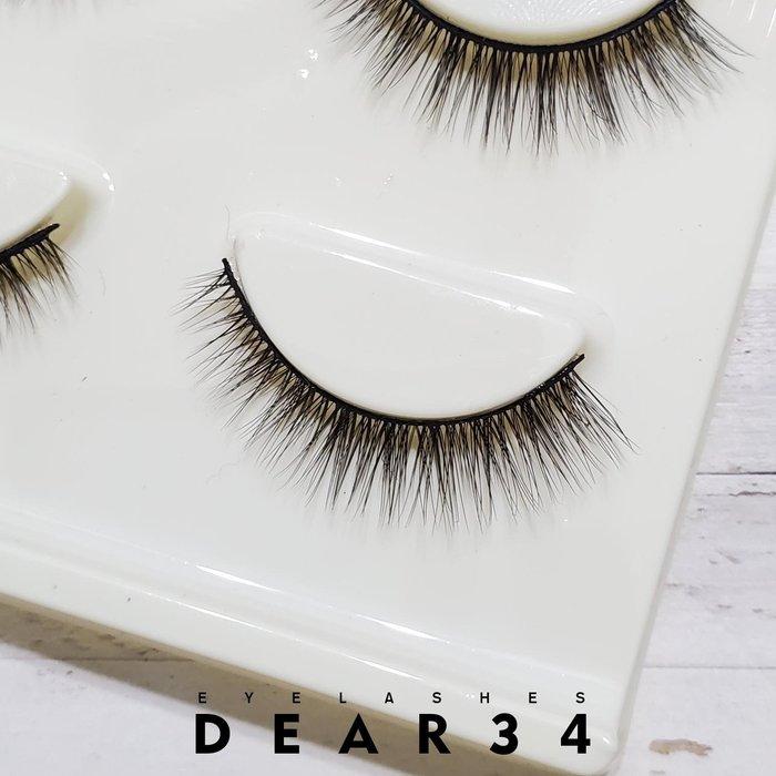 《Dear34》3D立體款3D-18黑梗眼尾加長V型根根分明 一盒三對價