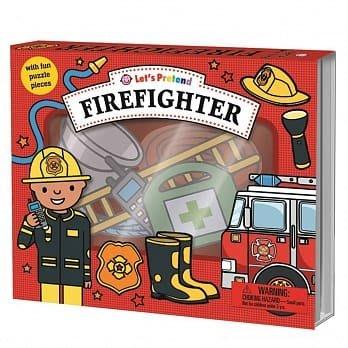 LET'S PRETEND Firefighter/拼圖書/盒裝