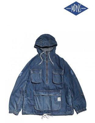 MADNESS DENIM ANORAK PARKA ARMY 衝鋒帽夾外套 單寧 日本製 現貨在店