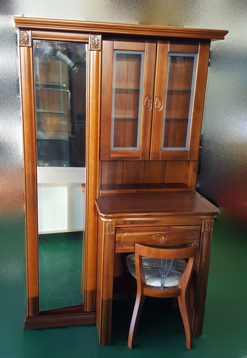 宏品二手家具館 中古傢俱賣場 B111804樟木化妝鏡台 化妝桌 梳妝檯 穿衣鏡 臥室傢俱拍賣床組 床墊 床架