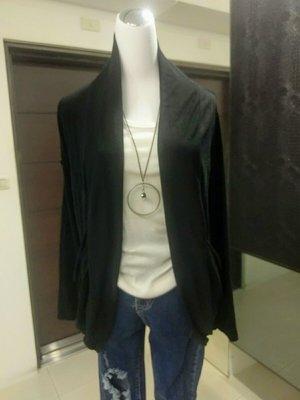 琳達購物中心-實品拍攝-秋裝針織百搭開衫薄款長外套-黑色灰色2件590元