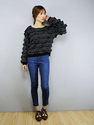 50% fifty percent 滿滿荷葉針織上衣, S/M (GT0255)