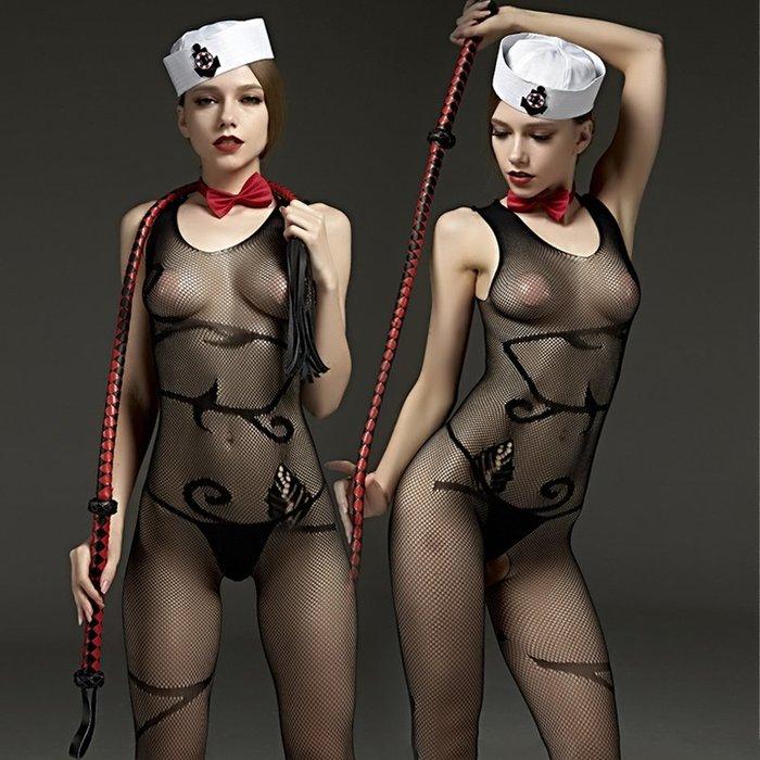 MIX style SHOP【S-797】Rimes 情趣內衣❤簡約風格背心連身衣無袖性感開襠網格連體網衣襪