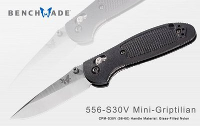 【angel 精品館 】Benchmade Mini-Griptilian黑柄折刀CPM-S30V鋼平刃556-S30V