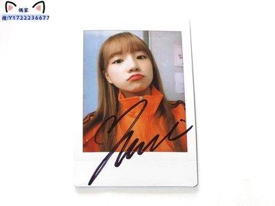 IZONE 曺柔理 親筆簽名周邊 原版拍立得 寶麗來照