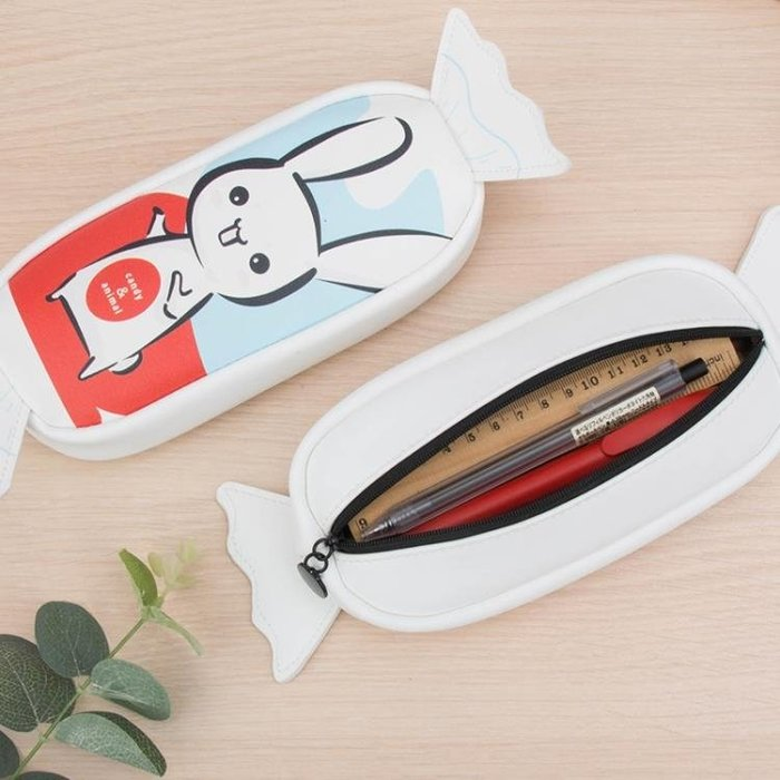筆袋韓國簡約時尚女生小清新學生可愛兔子奶糖少女心創意鉛筆盒