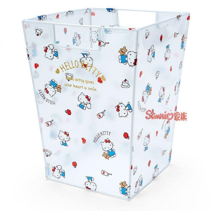 《東京家族》日本 三麗鷗 HELLO KITTY 透明 收納桶 儲物箱 置物箱