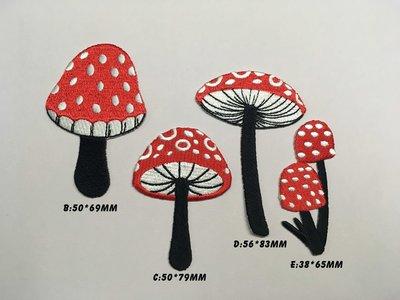 IAN'S 刺繡設計  刺繡菇類--刺繡貼布 / 刺繡貼紙