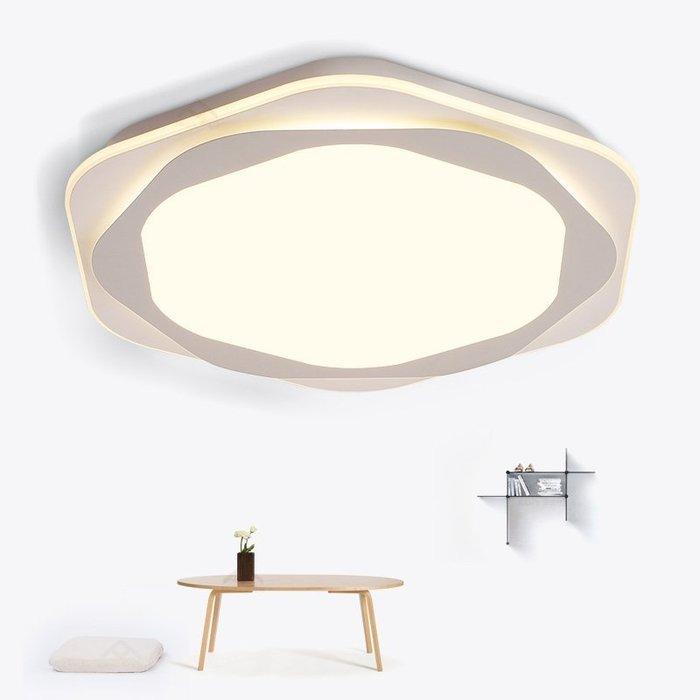 北歐臥室燈簡約現代LED主臥吸頂燈溫馨餐廳房間燈具【6-700源家精品】