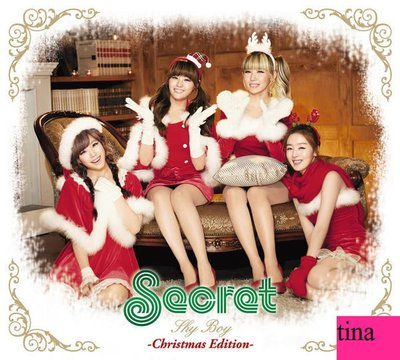 Secret日版日文單曲Shy Boy聖誕特別版CD+ DVD贈2012年月曆MV24頁寫真集CHRISTMAS MAGIC善花全新未拆