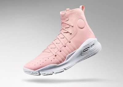 """UNDER ARMOUR CURRY 4 """"Flushed Pink"""" Curry向妻子Ayesha致意的配色 粉色"""