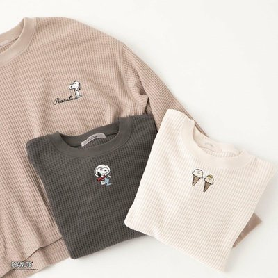 SNOOPYコラボの第2弾!one after another NICE CLAUP×PEANUTSのワッフルTシャツ