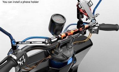 雷神機甲☆曲桿(雙色)22mm粗+增高螺絲☆孔距50cm內適用☆鋁合金屬重機車導航手機支架行車紀錄器配件