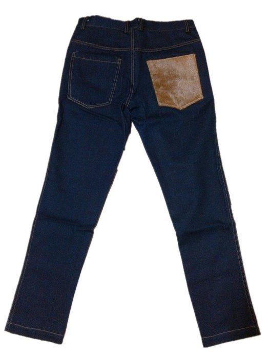 原色丹寧 N.HOOLYWOOD 馬毛口袋拼接造型設計 深藍原色單寧牛仔褲 九分褲 G-Dragon 潮人著用款