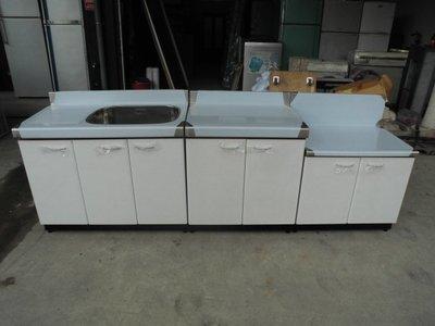全新品  不銹鋼三件式流理台&二手家具台中權威 洗手槽 切菜台 瓦斯爐台