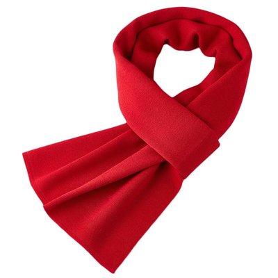 圍巾 針織披肩-純色羊毛提花經典男配件7色73wi3[獨家進口][米蘭精品]
