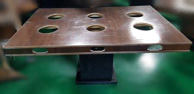 宏品二手家具館 中古傢俱賣場 E110906火鍋桌/6人 餐桌 咖啡桌 戶外休閒桌 工作桌 業務桌 書桌 電腦桌