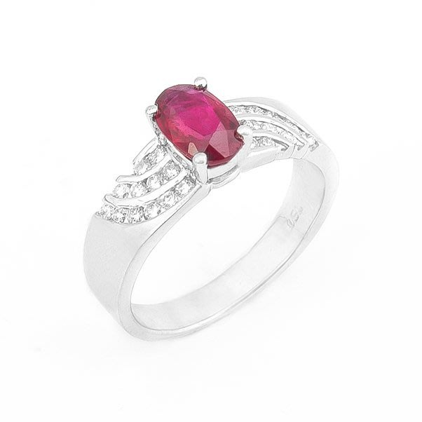 【JHT 金宏總珠寶/GIA鑽石專賣】1.20ct天然紅寶鑽戒/材質:18K(R00016)