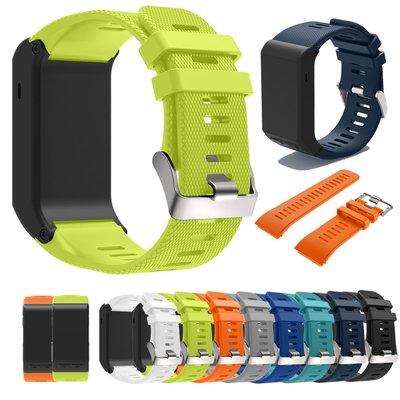 奇奇店-Garmin佳明Vivoactive HR錶帶 智能手環手錶替換硅膠腕帶環錶帶扣