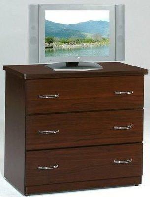 桃園國際二手貨中心 --- 2.6尺三斗電視收納櫃 共兩色可選(白橡色+胡桃色)