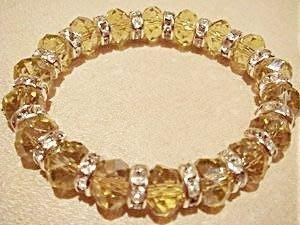 全新從未戴過奧地利水晶鑽石切割面手鍊手環,偏綠色,低價起標無底價!本商品免運費!