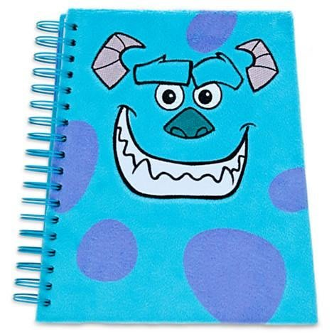 【美國大街】正品.美國迪士尼怪獸電力公司怪獸大學毛怪絨毛筆記本 毛怪日記本 怪獸大學筆記本 怪獸大學日記本